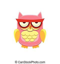 Moody Pink Owl