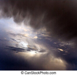 Moody sky - Dark moody interesting colorful sky