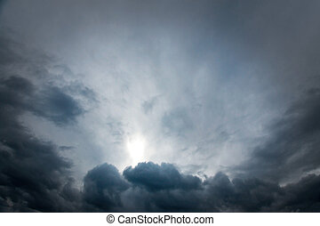 Moody sky - moody sky with gray and blue clouds