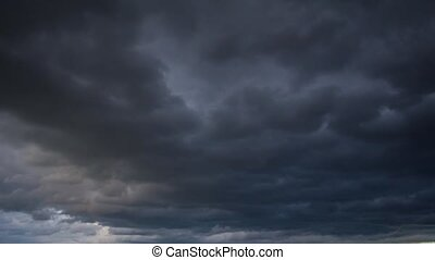 moody sky, time-lapse