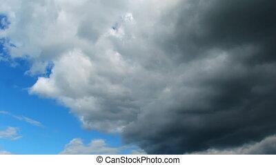 moody sky, timelapse