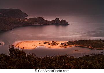 Moody Three Cliffs Bay