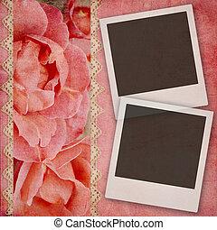 mooi, album, pagina, trouwfeest