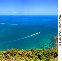 mooi, blauwe , aanzicht, koh, park, reis bestemming, hemel, tropische , beroemd, panoramisch, thailand., water, eiland, thai, nature., marinier, angthong, exotische , samui