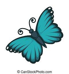 mooi, blauwe , vlinder