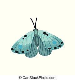 mooi, blauwe , vlinder, licht, illustratie, insect, vector, achtergrond, witte