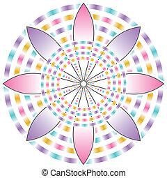 mooi, bloem, zich verbeelden