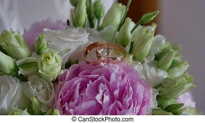 mooi, bloemen, stander, in een kamer, levensstijl, in, een,...