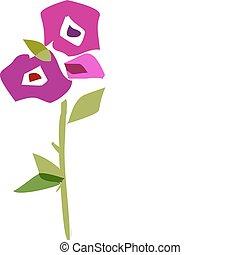 mooi, bloemen, vellen, verzameling, -2