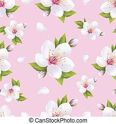 mooi, blossom , seamless, model, sakura, achtergrond