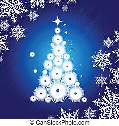 mooi, boompje, kerstmis