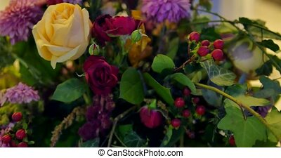 mooi, bouquetten, van, kleurrijke, lentebloemen