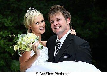 mooi, bruiloftspaar