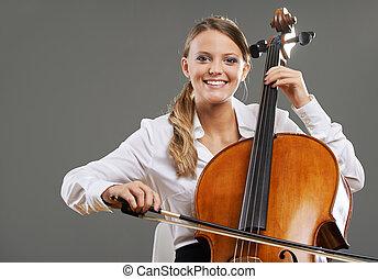 mooi, cellist