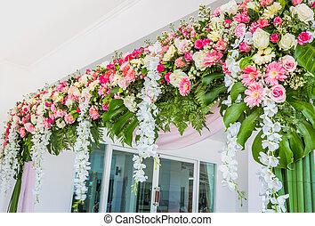 mooi, ceremonie, trouwfeest