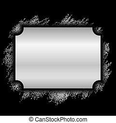 mooi, decoratief, deco, foto, elegant, schitteren, design., stijl, banner., ouderwetse , vrijstaand, achtergrond., black , luxe, kerstmis, frame., illustratie, kader, zilver, grens, versiering, vector