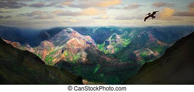 mooi, eiland, landscape, hawaii, kauai