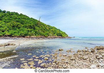 mooi, eiland, strand