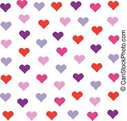 mooi en gracieus, hart, achtergrond, in, mooi, colors., valentine's dag, vector, ontwerp