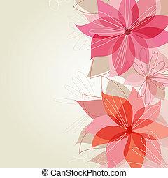 mooi, floral, achtergrond