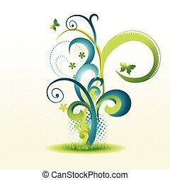 mooi, floral ontwerpen