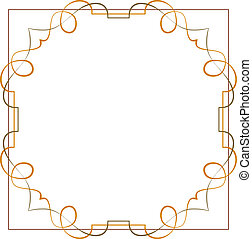 mooi, frame., ouderwetse , element, elegant, ontwerp, vector.