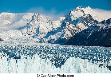 mooi, gletsjer, perito, moreno, argentinië, landschappen