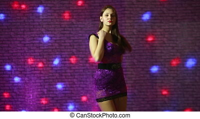 mooi, go., dancing, gaan, sexy, meisje
