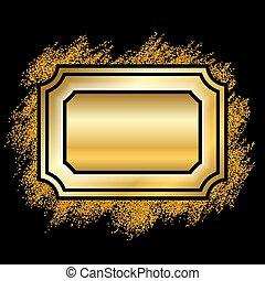 mooi, gouden, deco, goud, foto, elegant, decoratief, schitteren, design., stijl, banner., ouderwetse , vrijstaand, achtergrond., black , luxe, kerstmis, frame., illustratie, kader, grens, versiering, vector