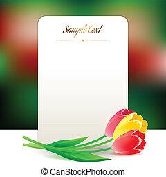 mooi, greating, bloemen, verticaal, valentine, lente, separately., eps, rechthoekig, day., samenstellen, elke, element, internationaal, vrouwen, dag, kaart bestand