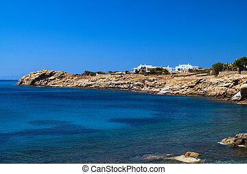 mooi, griekenland, strand, eiland, mykonos