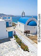 mooi, grieks eiland, mykonos