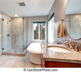 Interieur badkamer vertolking badkamer moderne 3d for Badkamer plannen in 3d