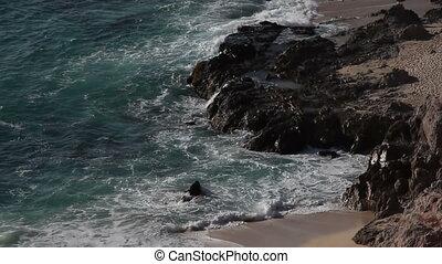 mooi, grit, in, los, cabo, baja californië sur, mexico, waar, de, woestijn, bereiken, rechts, dons, om te, de, pacific, ocean., daar, is, een, verbazend, kwaliteit, van licht, ongeveer, dit, gebied