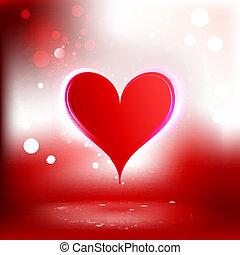 mooi, hart, achtergrond