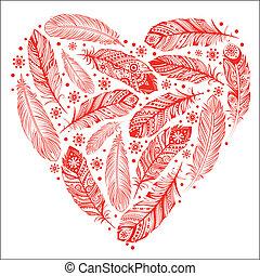 mooi, hart, dag, valentine