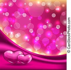 mooi, hartjes, achtergrond, valentine