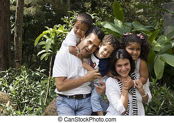 mooi, het genieten van, gezin, samen