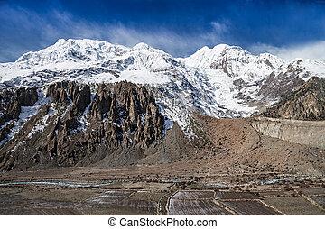 mooi, himalays, landscape