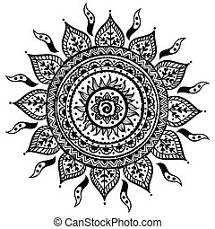 mooi, indiër, ornament
