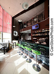 mooi, interieur, moderne, restaurant