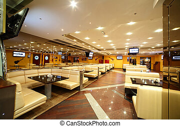 mooi, interieur, van, moderne, restaurant