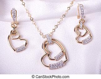 mooi, juwelen, achtergrond