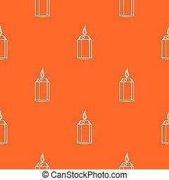 mooi, kaarsje, vector, model, sinaasappel