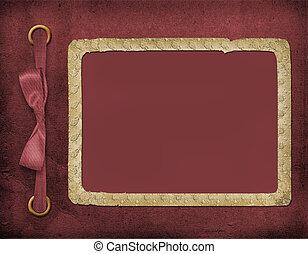 mooi, kader, foto, vinous, invitations., achtergrond., bow., of