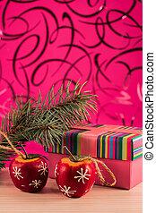 mooi, kerstmis, afbeelding