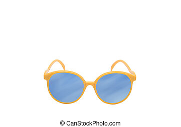 mooi, kleurrijke, bril, mode, concept.