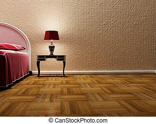 mooi, lamp, bed, classieke
