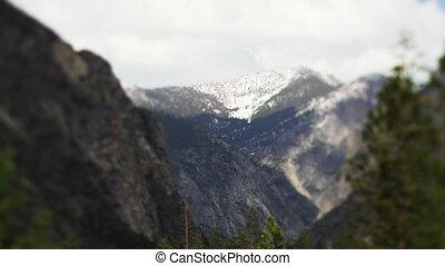 mooi, landscape, in, koningen canyon onderdaan parkeren,...