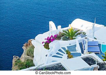 mooi, landscape, santorini, resert., griekenland